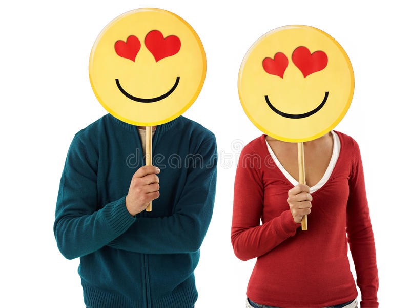 Download Couple with emoticon stock image. Image of emoticons - 17053751