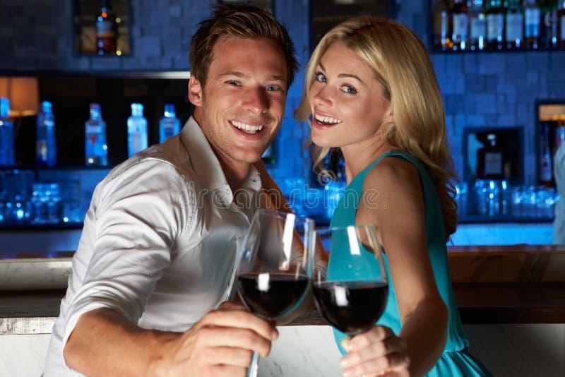 Download Couple Enjoying Drink In Bar Royalty Free Stock Photos - Image: 32061808