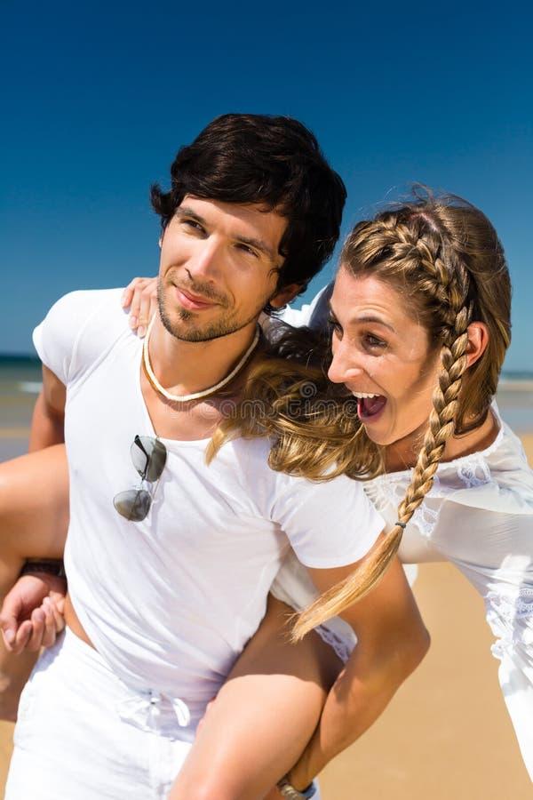 Download Couple Enjoying Freedom On The Beach Stock Photo - Image: 29150846