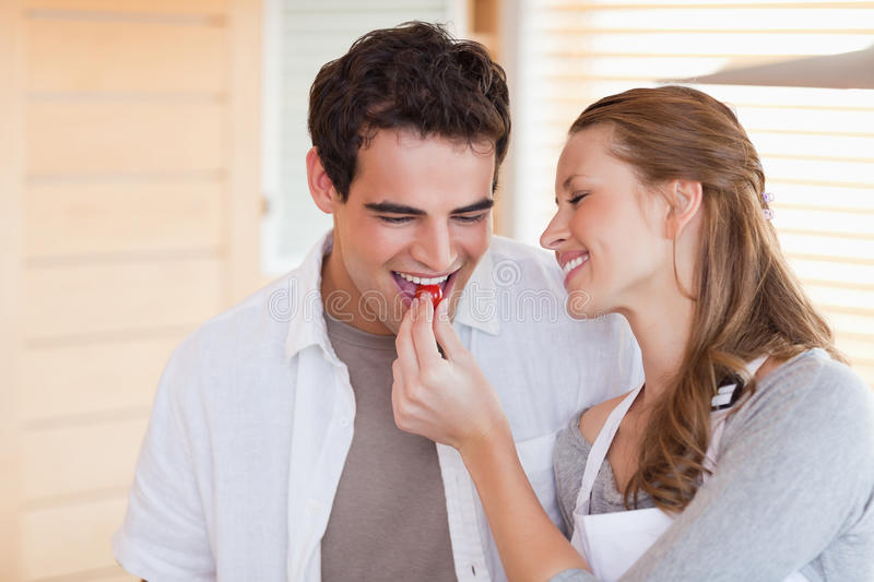 Download Couple Enjoys Cooking Together Stock Image - Image: 22221375