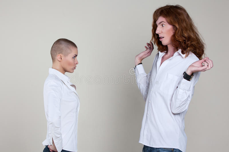 Download Couple With Extreme Hairstyles Stock Photo - Image: 23493248
