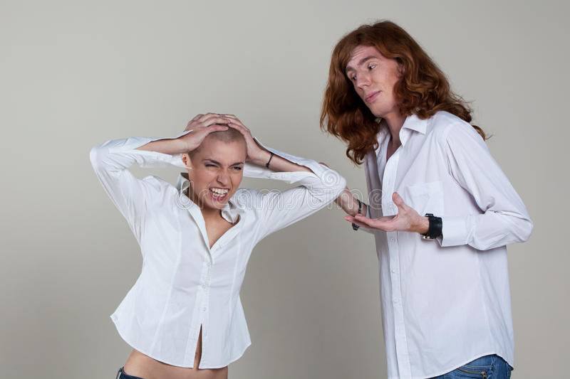 Download Couple With Extreme Hairstyles Stock Photo - Image: 23493250