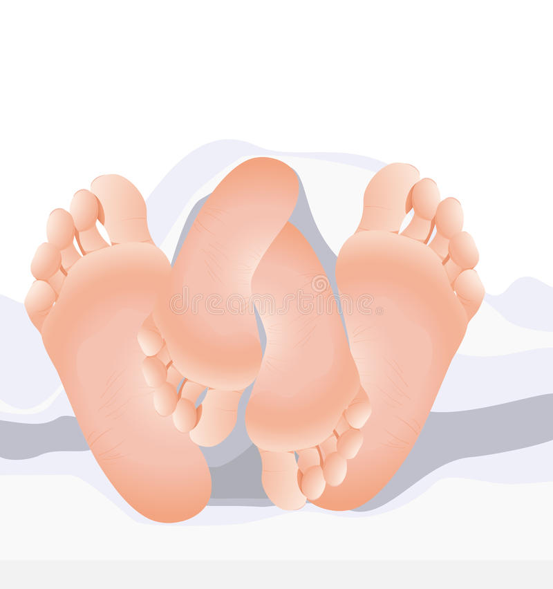 Download Couple feet stock vector. Image of body, caress, passion - 13643738