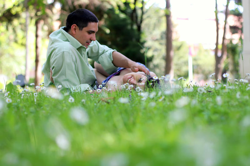 Download Couple in the field stock photo. Image of love, face - 19578980