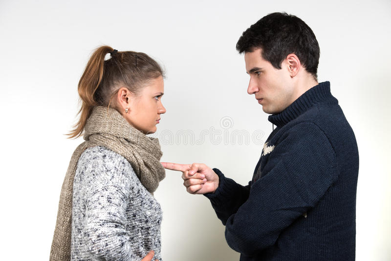 Couple in fight stock image