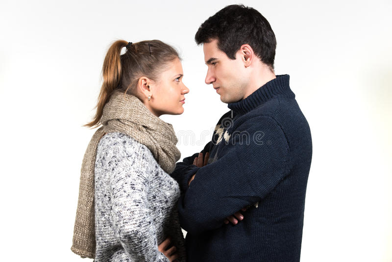 Couple in fight royalty free stock photo