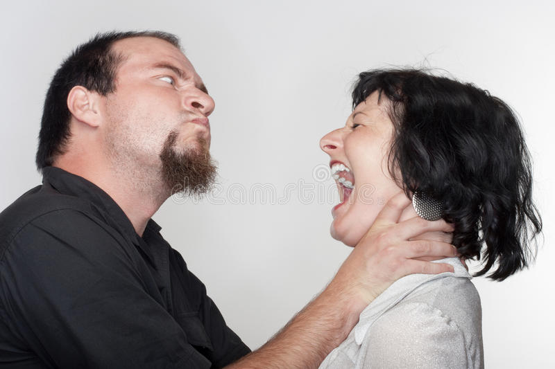Couple fighting stock images