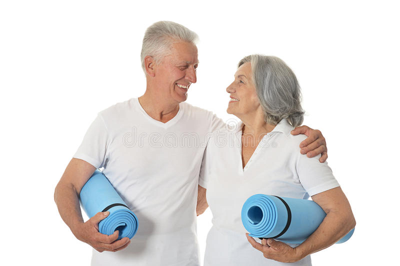 Couple with fitness stock photography