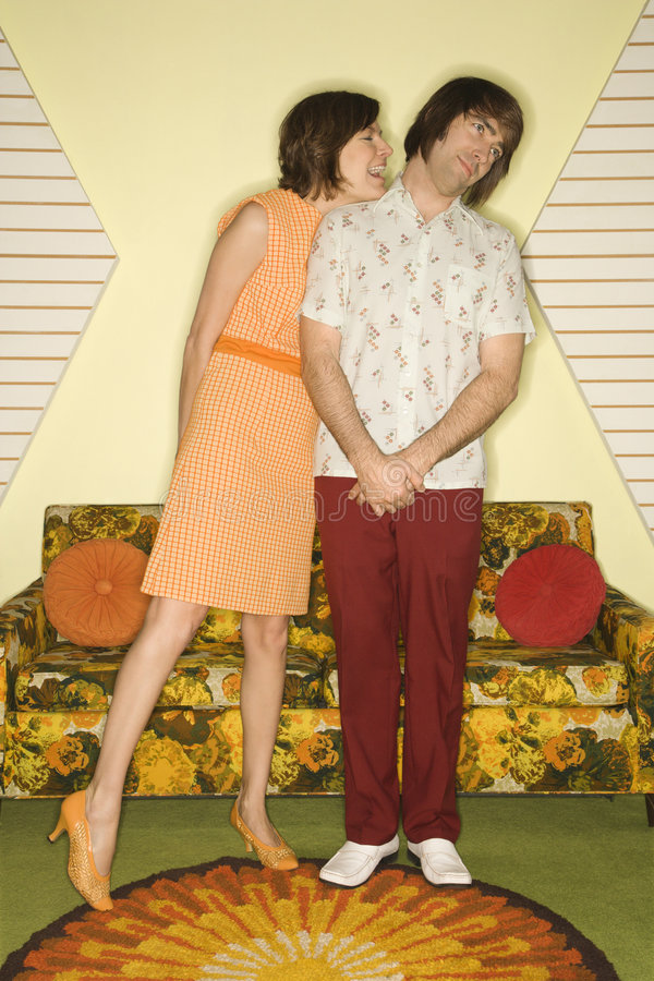 Couple flirting. royalty free stock photos