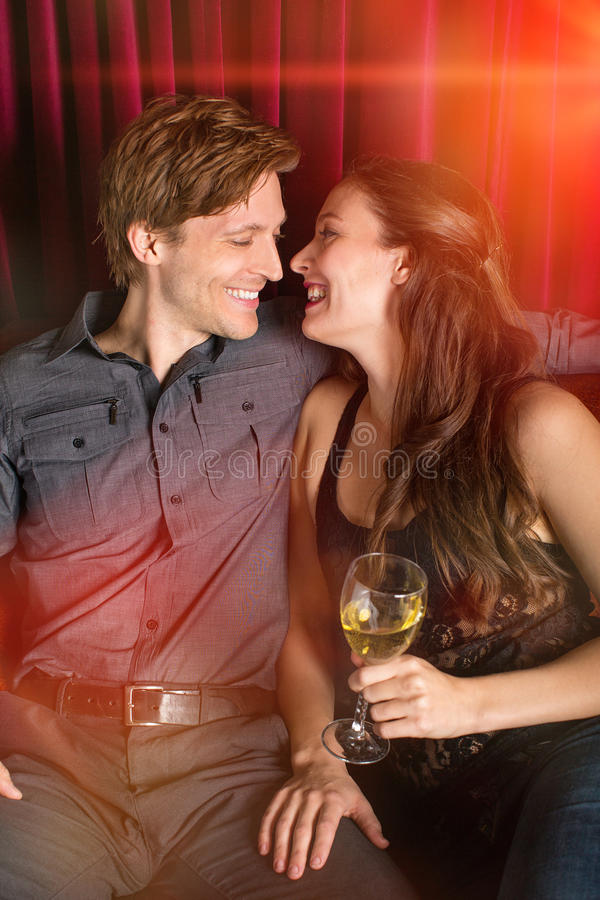 Couple flirting stock photos