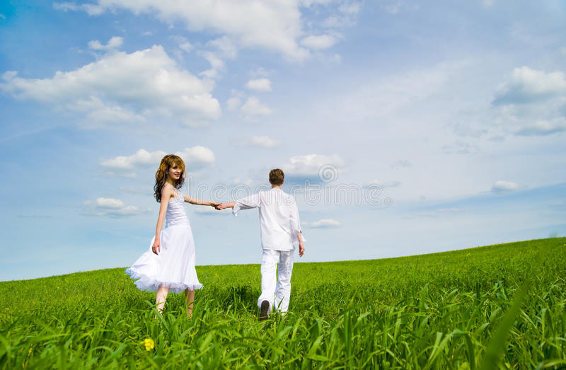 Download Couple in a flower field stock image. Image of cheerful - 14773759