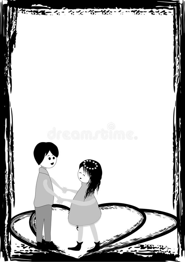Couple in frame stock vector. Illustration of happiness - 33278169