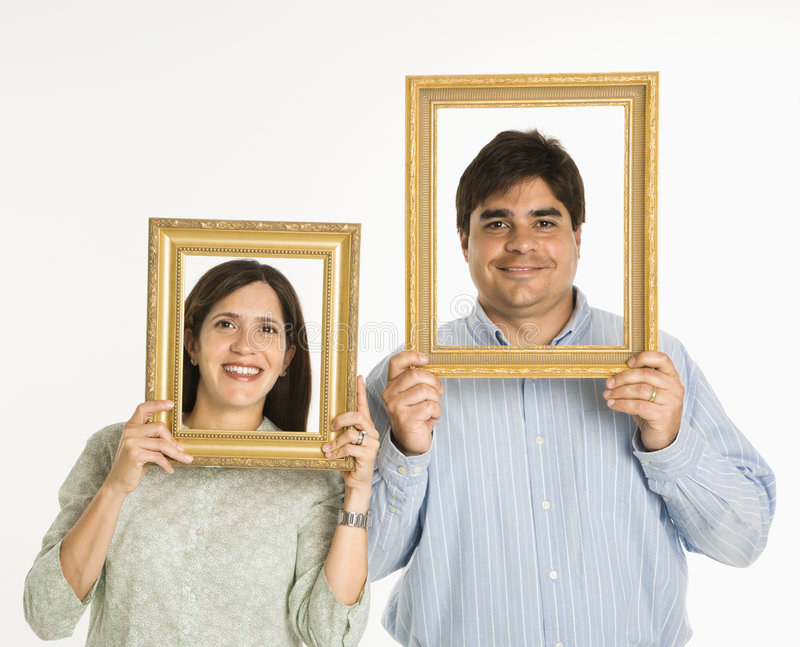 Couple in frames. stock photo. Image of concept, image - 2771804