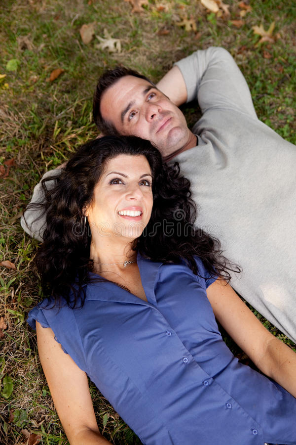 Couple Future Think royalty free stock image