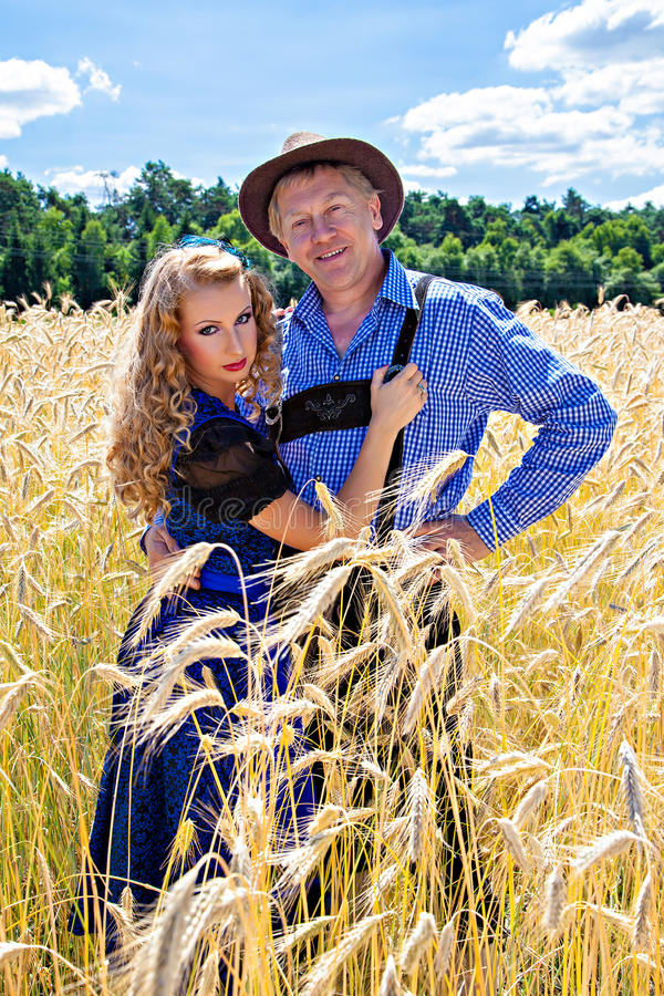 Download Couple In German Tracht On The Field Stock Photo - Image: 33309204