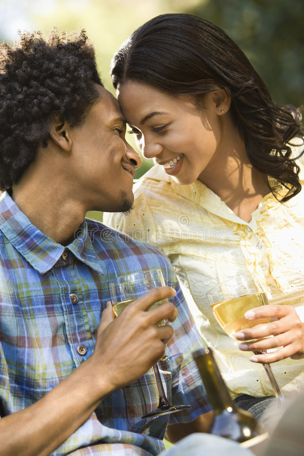 Couple getting close. royalty free stock image