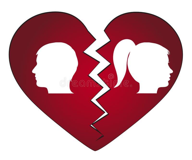 Download Couple getting divorced stock vector. Illustration of break - 28627115
