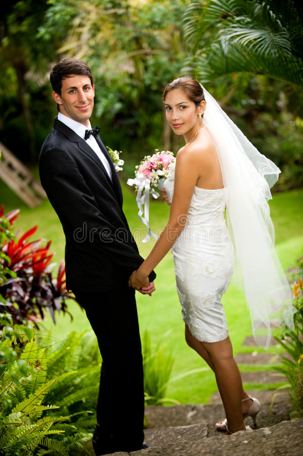 Download Couple Getting Married stock photo. Image of bride, corsage - 13354214