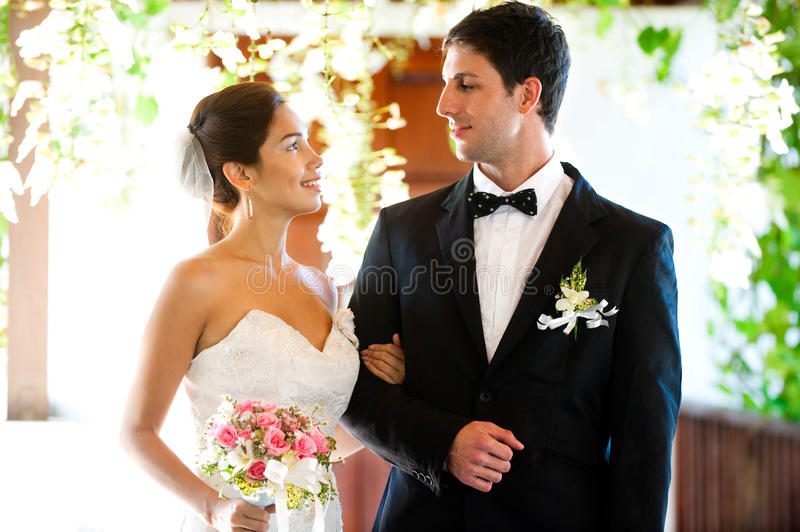 Couple Getting Married Stock Photo
