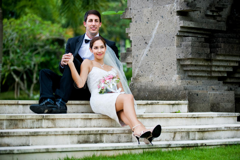 Couple Getting Married royalty free stock photography