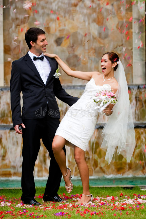 Download Couple Getting Married stock photo. Image of slim, cheerful - 13447356