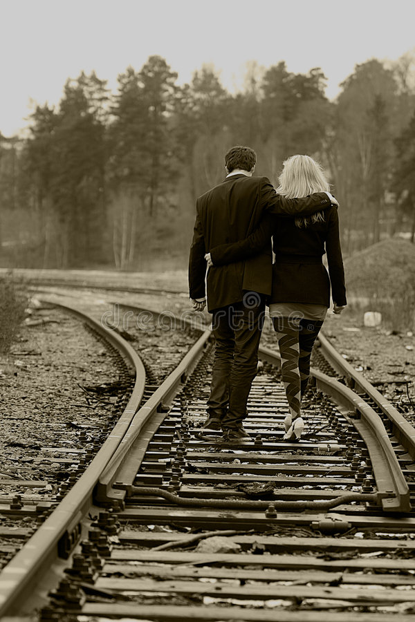 Couple going stock images