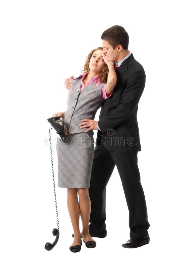 Download A Couple Got The Bad News Over The Phone Stock Image - Image: 11998229