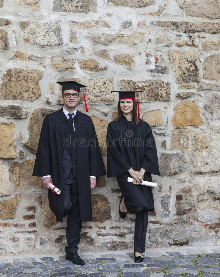 Download Couple In The Graduation Day Stock Image - Image: 40036455