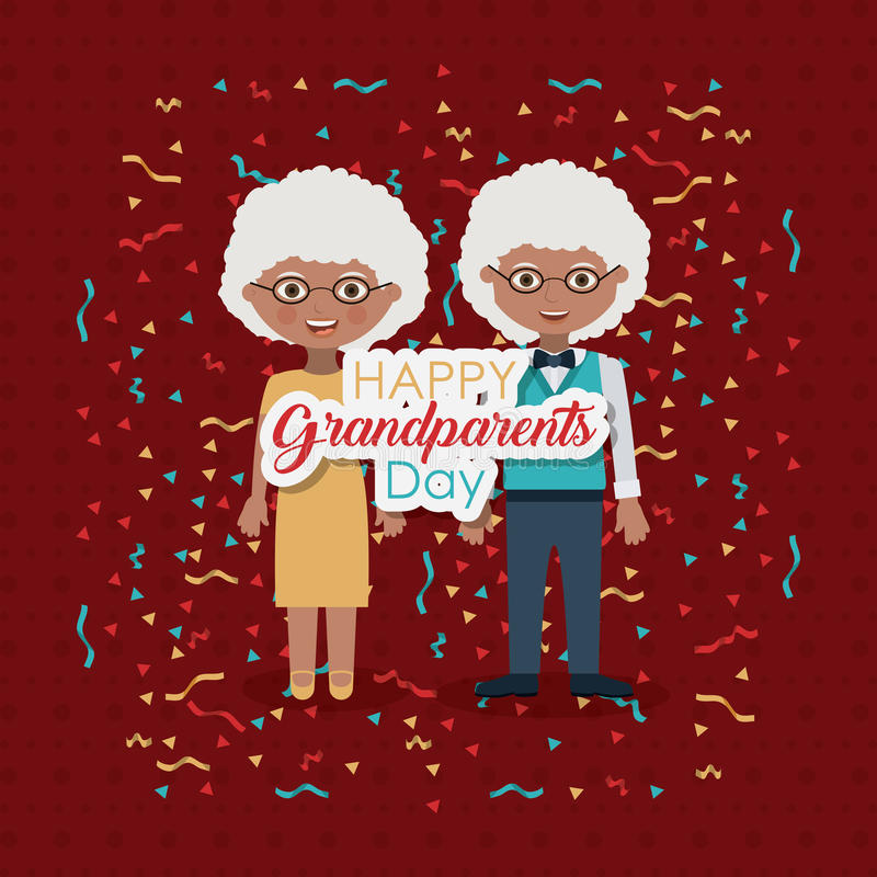 Couple of grandparents design. Couple of old man and woman icon. Grandparents generation and family theme. Colorful design. Vector illustration vector illustration