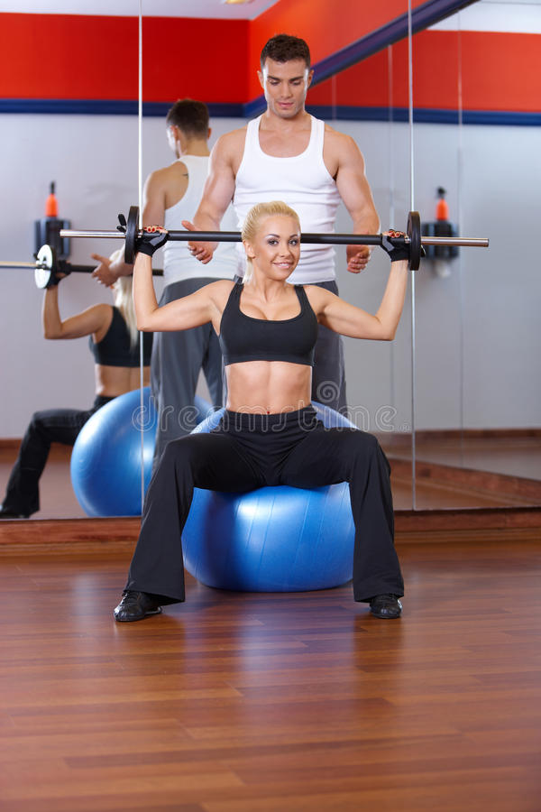 Download Couple at the gym stock photo. Image of healthy, beauty - 14855018