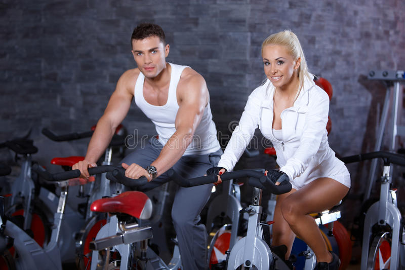 Download Couple at the gym stock photo. Image of body, adult, club - 14855174