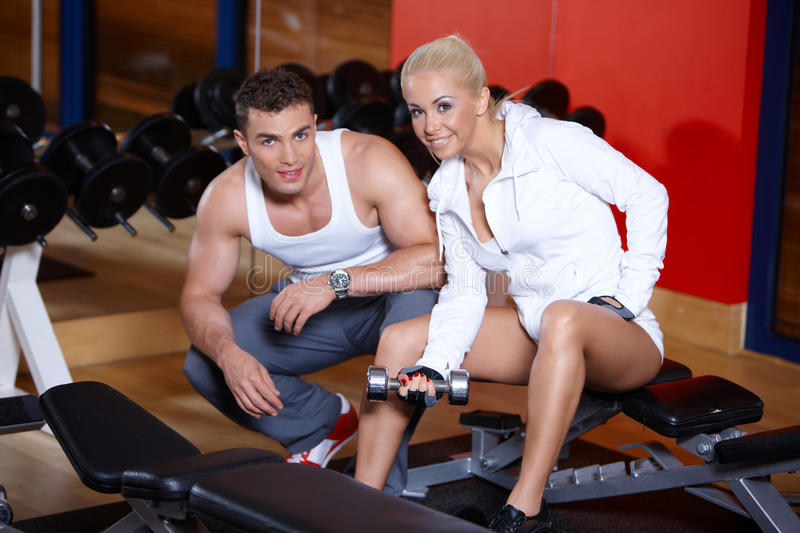 Download Couple at the gym stock photo. Image of active, smile - 14855196