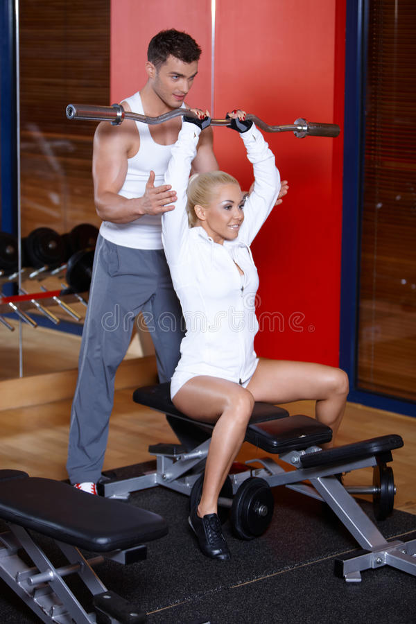 Download Couple at the gym stock image. Image of sport, slim, fitness - 14855205