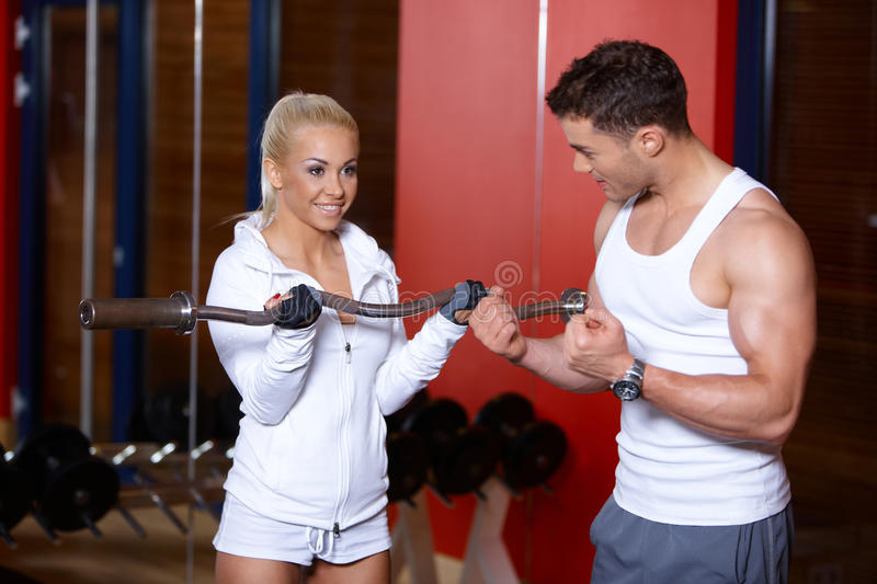 Download Couple at the gym stock image. Image of body, exercise - 14855227