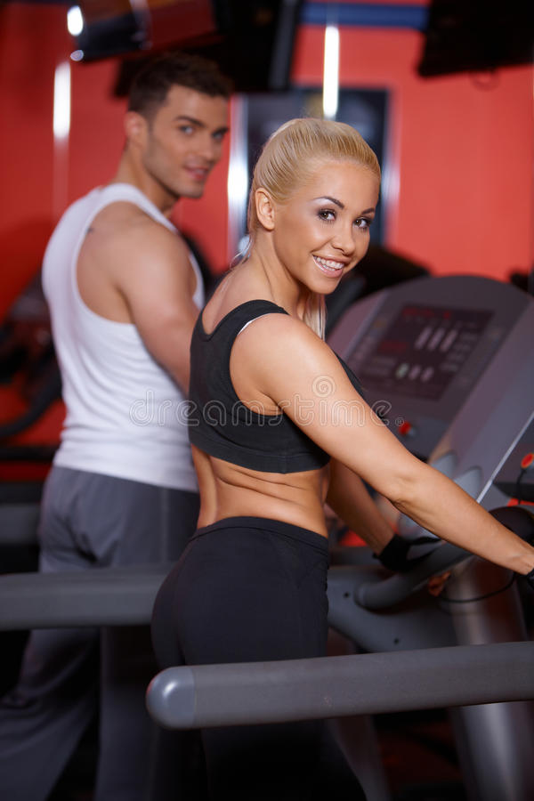 Download Couple at the gym stock photo. Image of smile, fitness - 14855338
