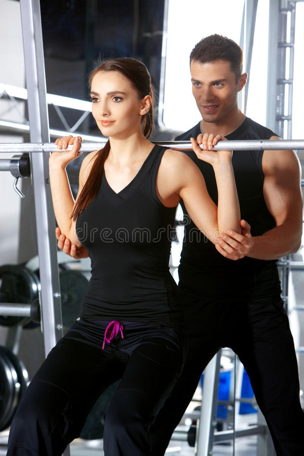 Download Couple at the gym stock image. Image of ride, beauty - 19183085