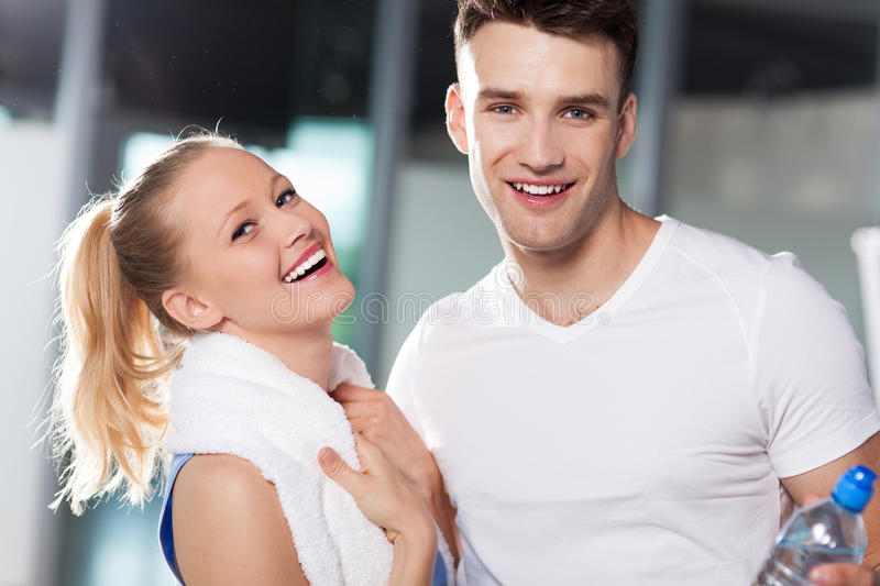 Download Couple at the gym stock image. Image of male, smile, smiling - 25544485