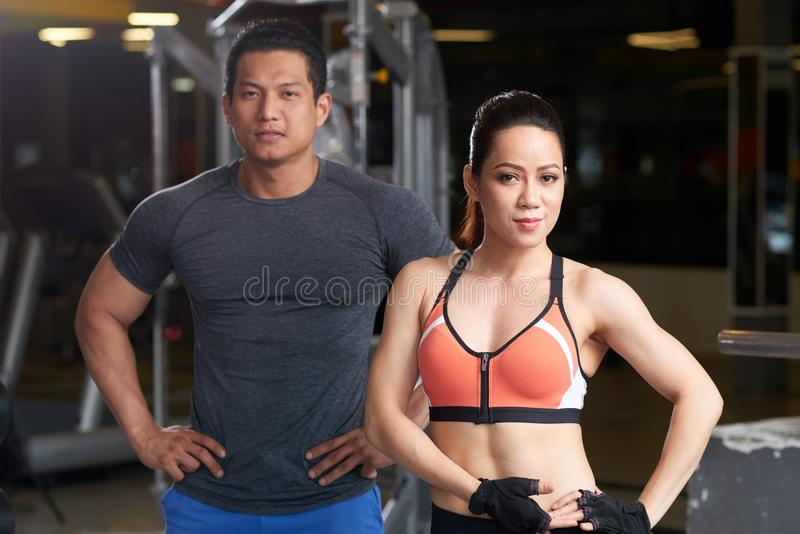Couple in gym royalty free stock images
