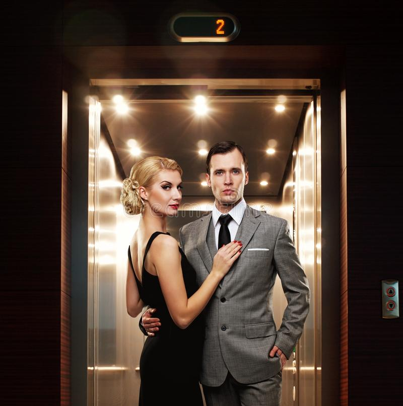 Download Couple in hallway stock image. Image of finance, confident - 26013073