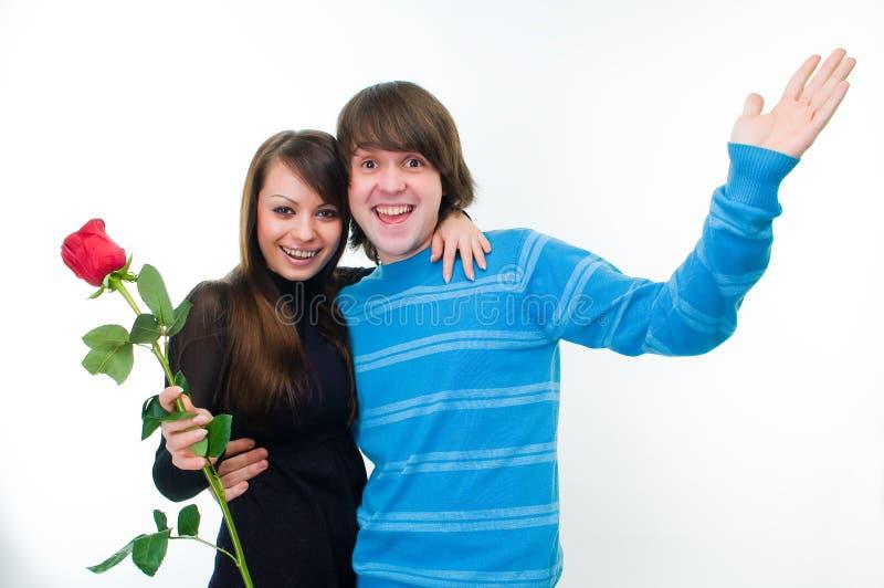 couple happy rose στοκ φωτογραφίες με δικαίωμα ελεύθερης χρήσης