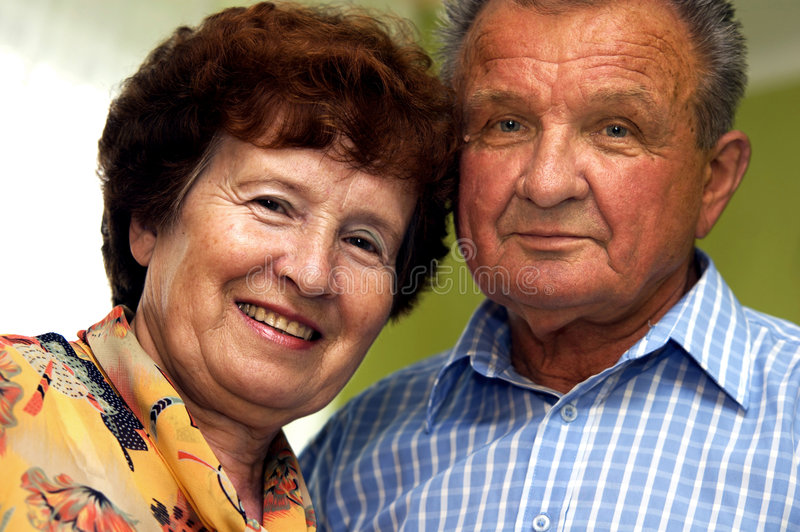 couple happy senior smiled στοκ φωτογραφίες με δικαίωμα ελεύθερης χρήσης