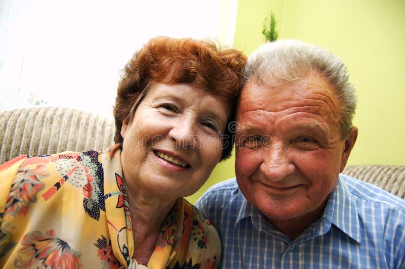 couple happy senior smiled στοκ εικόνες με δικαίωμα ελεύθερης χρήσης