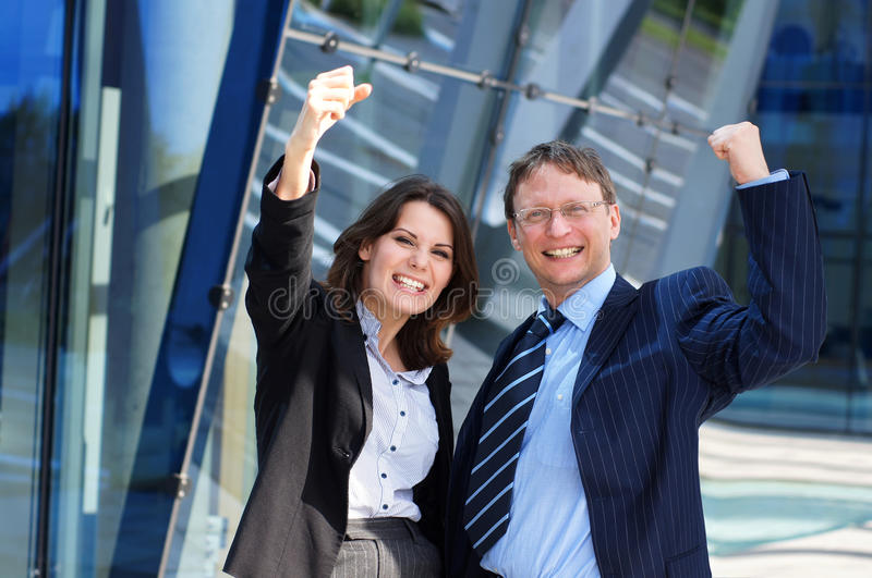 Download A Couple Of Happy Successful Business Persons Stock Photo - Image: 27913490