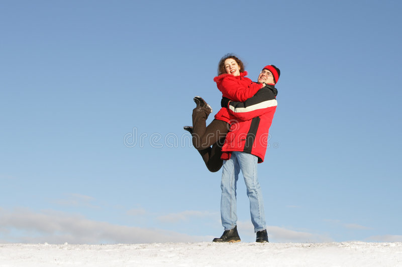 Couple have fun royalty free stock image
