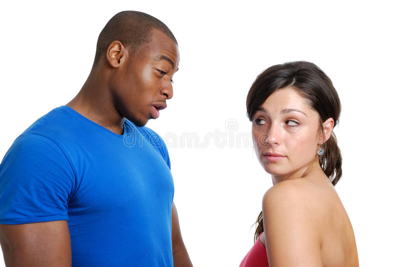 Download Couple having an argument stock photo. Image of white - 10606896