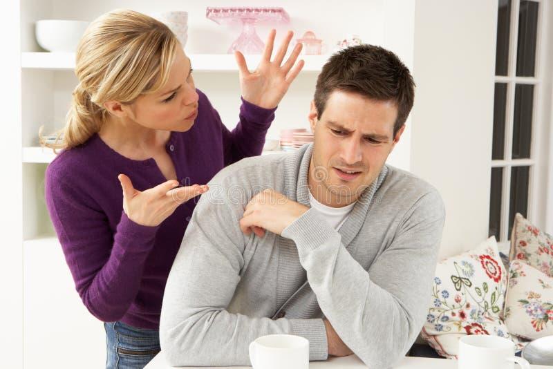 Couple Having Argument stock photo