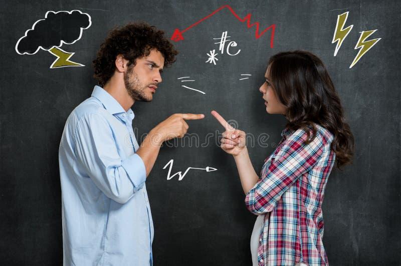 Couple Having Argument stock image
