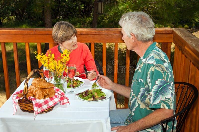 Download Couple Having Brunch stock image. Image of conversation - 15041031