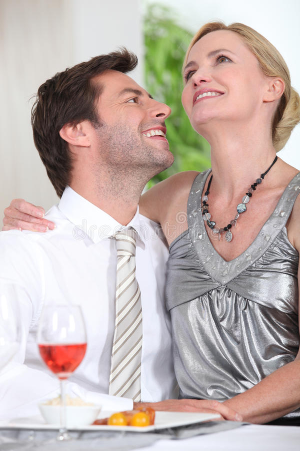 Download Couple having dinner stock image. Image of collected - 26505335