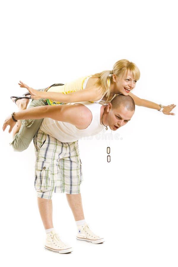 Couple having fun royalty free stock photo